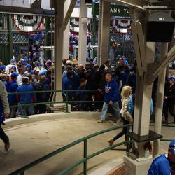 Another view of the congestion, just inside the bleacher gate