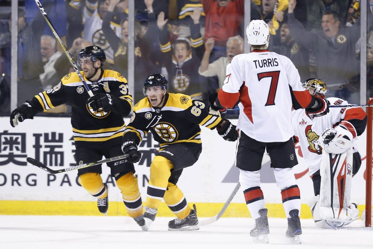 NHL: Stanley Cup Playoffs-Ottawa Senators at Boston Bruins