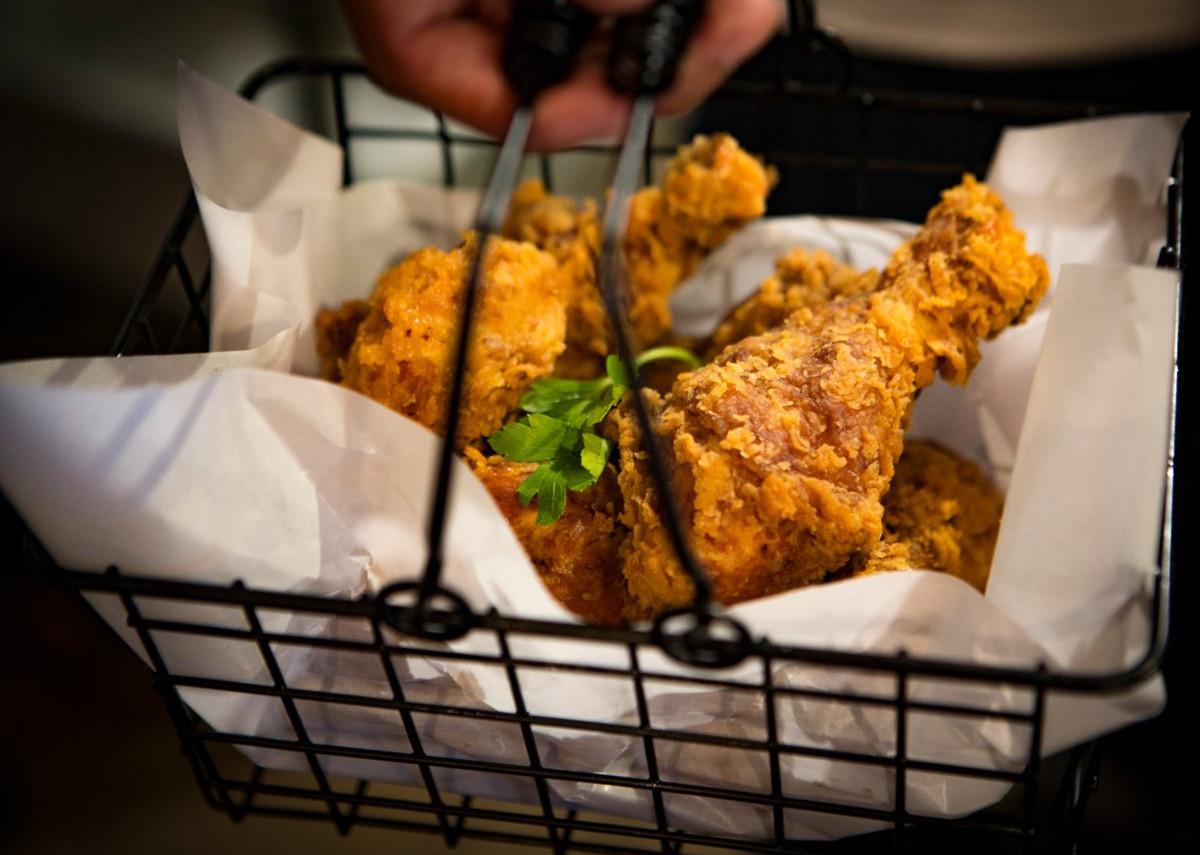 Fried chicken at Birdman Juke Joint
