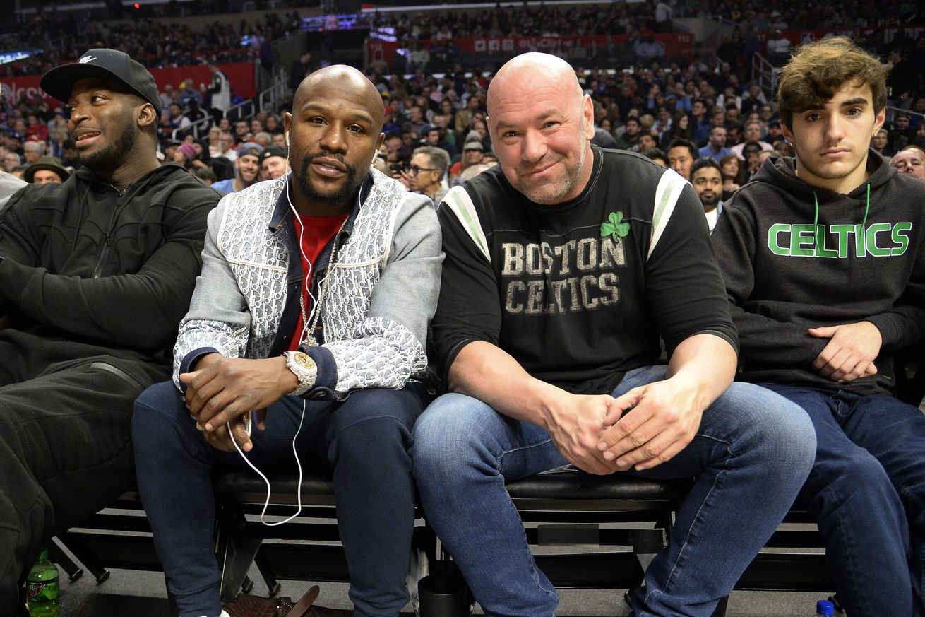 """<label><a href='https://www.mvpboxing.com/news/boxing/29685/White-Mayweather-return-still-very-possible' class='headline_anchor'>White: Mayweather return still """"very possible""""</a></label><br />The UFC promoter and the boxing superstar still talk, White says. UFC boss Dana White says that th"""