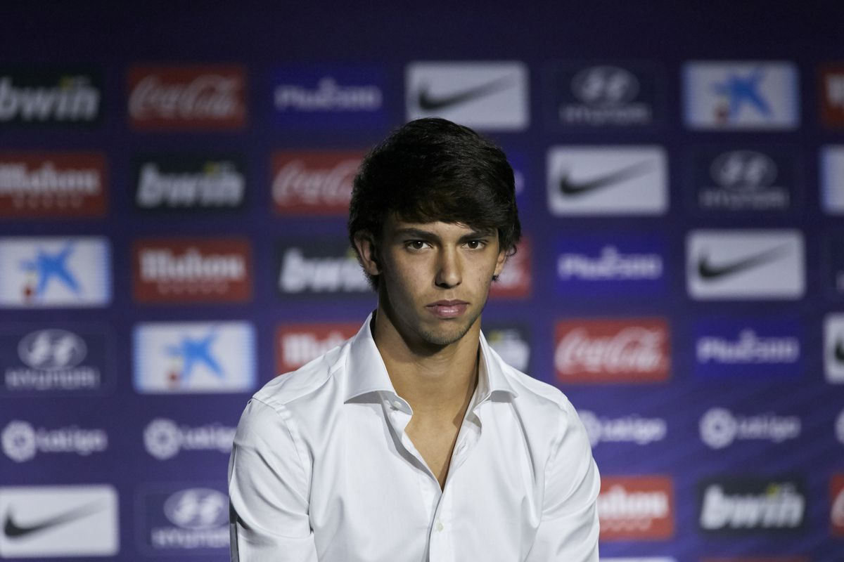 Joao Felix during his Official presentation as a new player...