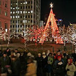 Holiday lights on the Main Street Plaza and Temple Square will be turned on Nov. 25 at dusk.