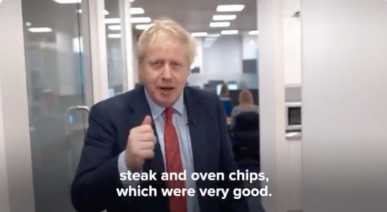 Boris Johnson says he cooked steak and oven chips and that they were very good