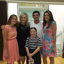 The O'Neil family at Scott O'Neil's baptism.