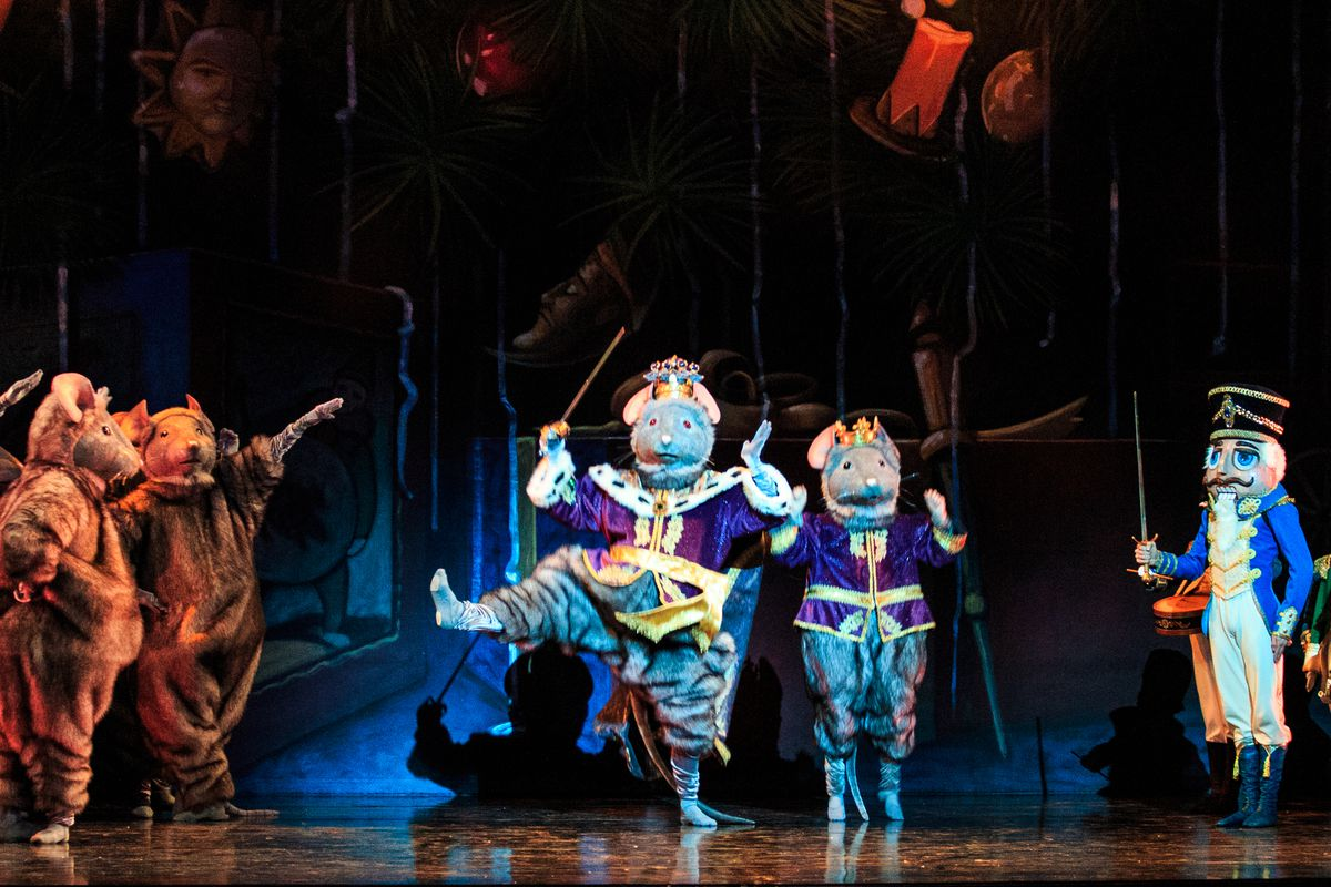 """The Mouse King and the Nutcracker in Ballet West's updated """"The Nutcracker,"""" which runs at Capitol Theatre through Dec. 30."""