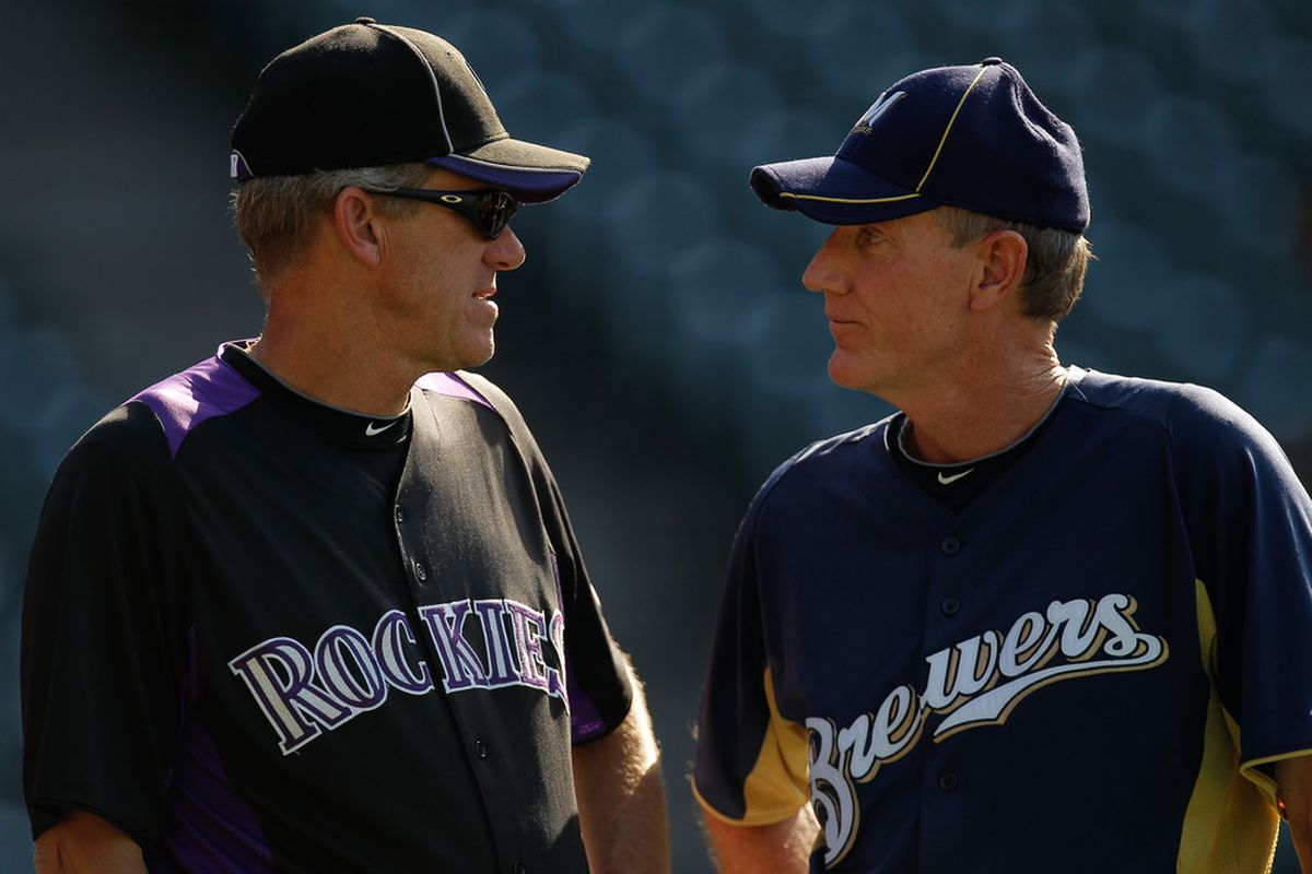 Ron Roenicke doesn't think Jim Tracy's jokes are funny, either.