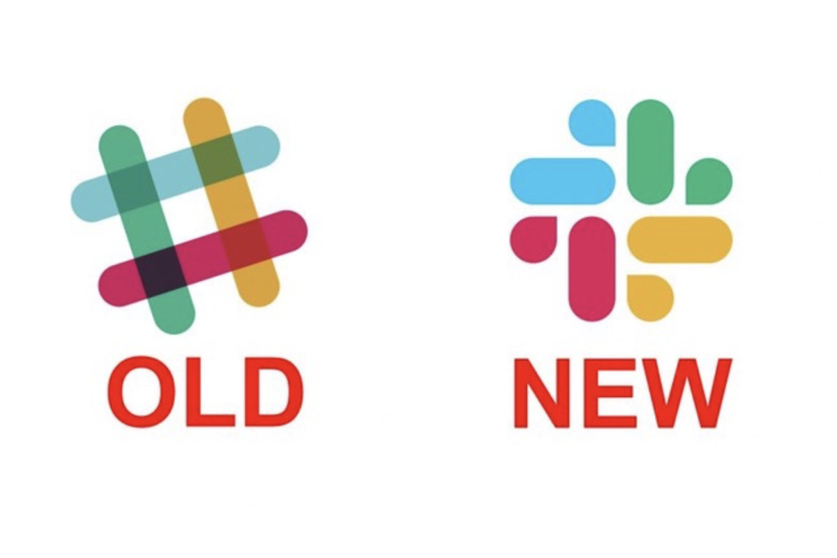 Slack logos old and new.