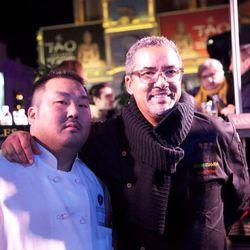Steve Aguglia of Aquaknox and Herb Wilson of SushiSamba.