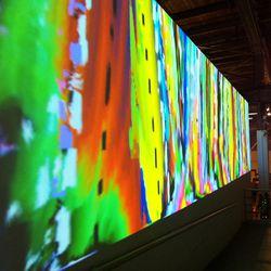 The digital technicolor wall was a major attraction