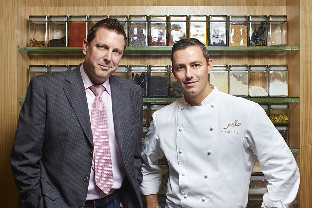 438733735f0d Former Grace GM Michael Muser (left) and chef Curtis Duffy are suing their  former boss. Jason Little