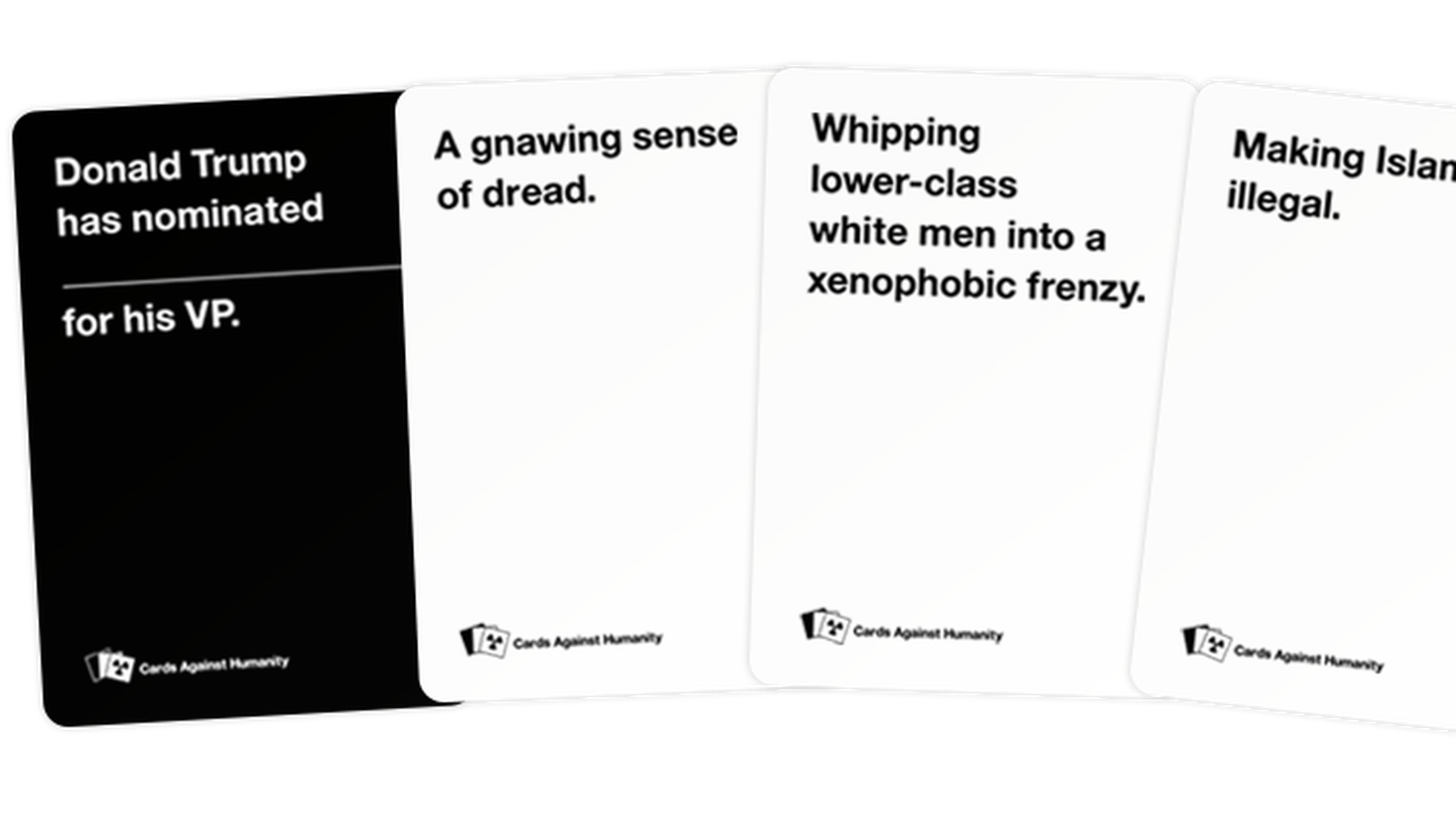Cards Against Humanity CAH SAVES AMERICA TRUMP Expansion Pack 30 Cards