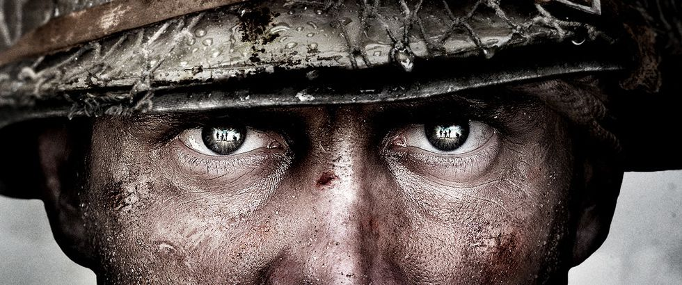 Call of Duty: WWII reveal artwork - soldier's eyes
