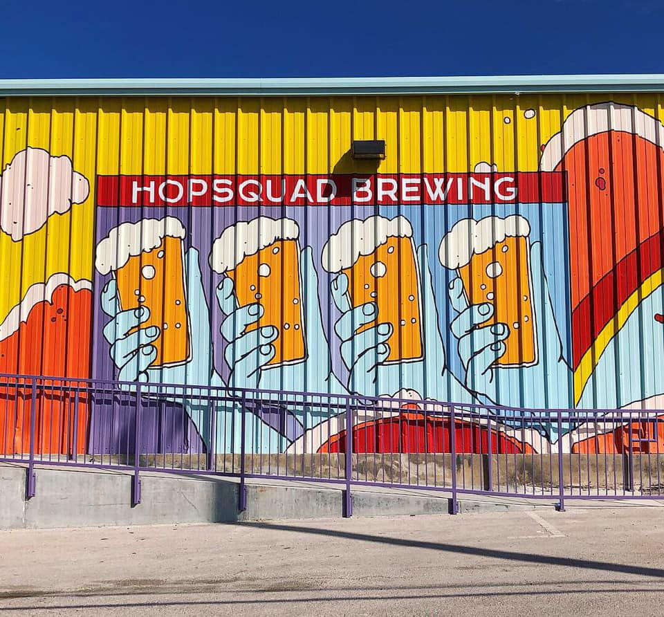 Hopsquad Brewing Co.'s exterior mural
