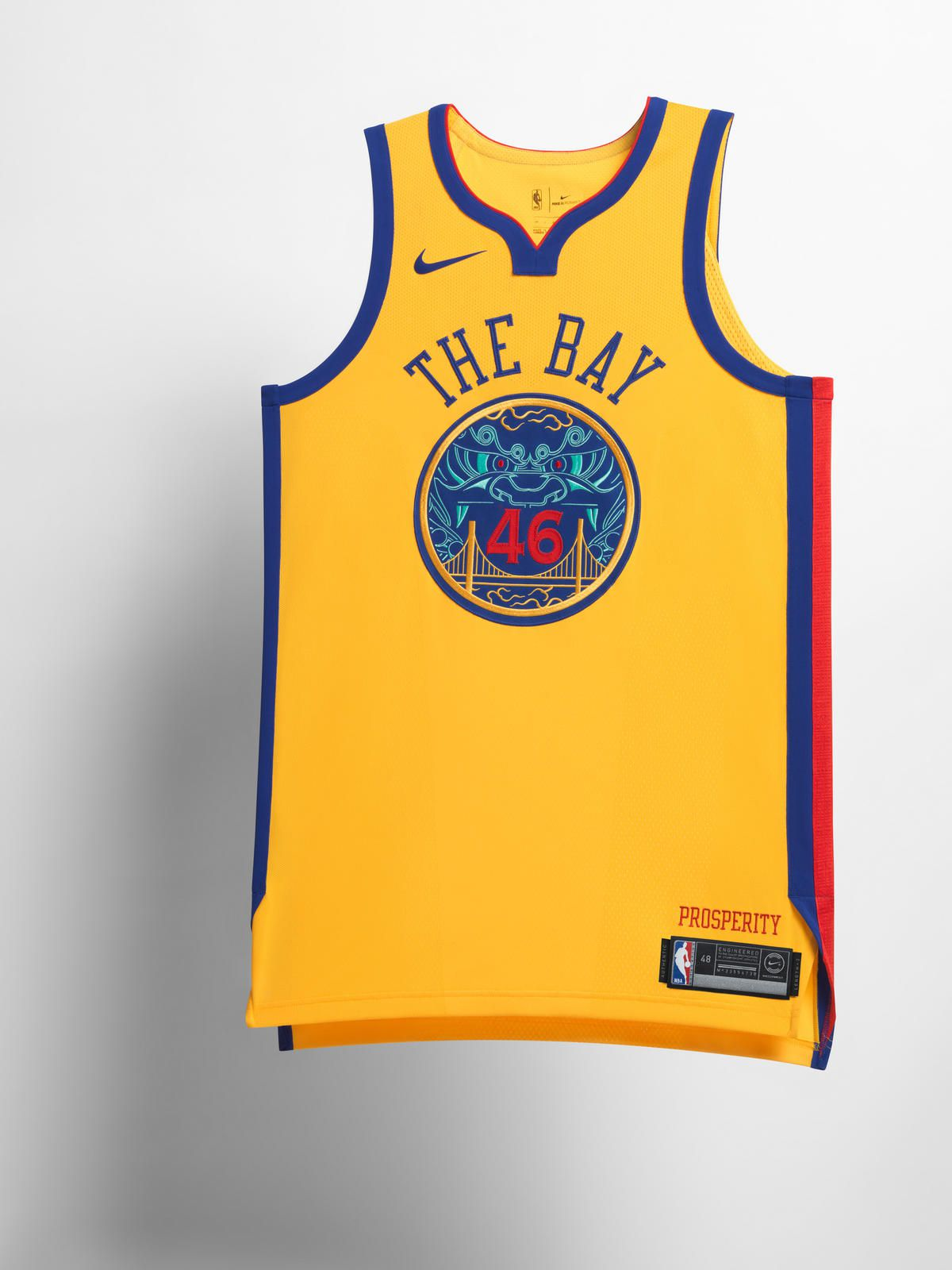 fd6d2628b77 Golden State's City Edition jersey pays homage to the Chinese culture in  the Bay Area, mainly due to the fact that team's relocation to the area  coincided ...