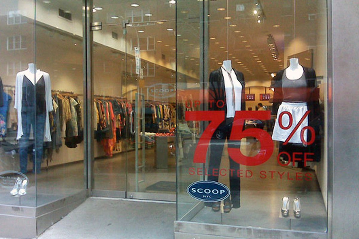 Scoop during the mad sales rush last December