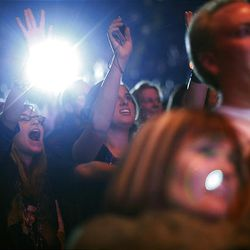 David Archuleta fans go crazy for Archuleta at his concert at the E Center in West Valley City on Friday.
