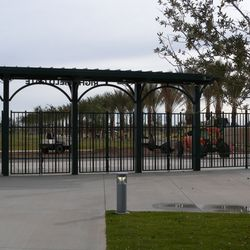 Most of the parking will be beyond where the trees are, and most people will enter through this right-field gate