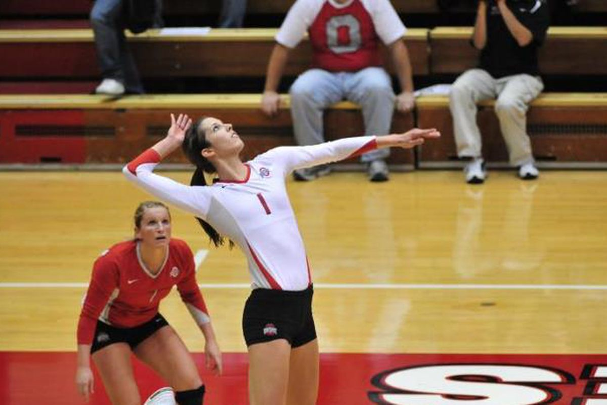 Emily Danks set the tone for the Ohio State women's volleyball team in a highly successful weekend for the Buckeyes' Olympic sports programs.