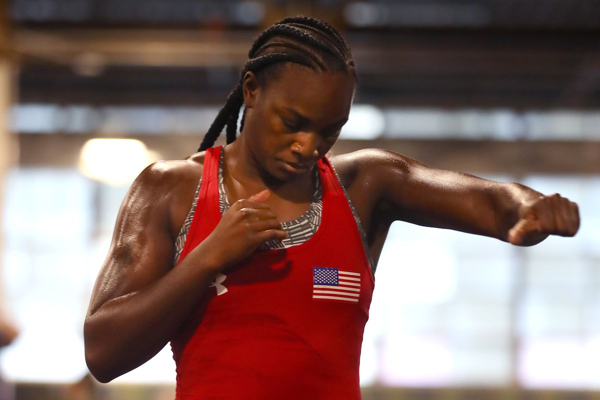 Claressa Shields v Ivana Habazin - Media Workout