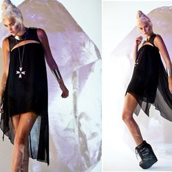UNIF Splice dress, $122; Jeffrey Campbell Thunder platform, $152