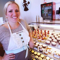 """Megan Faulkner founder of """"The Sweet Tooth Fairy"""" talks Monday, April 9, 2012 about the Food Network's Cupcake Wars that they won."""