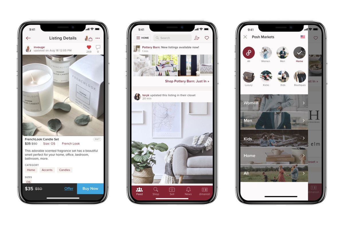 Poshmark is moving beyond fashion to sell home goods - The Verge
