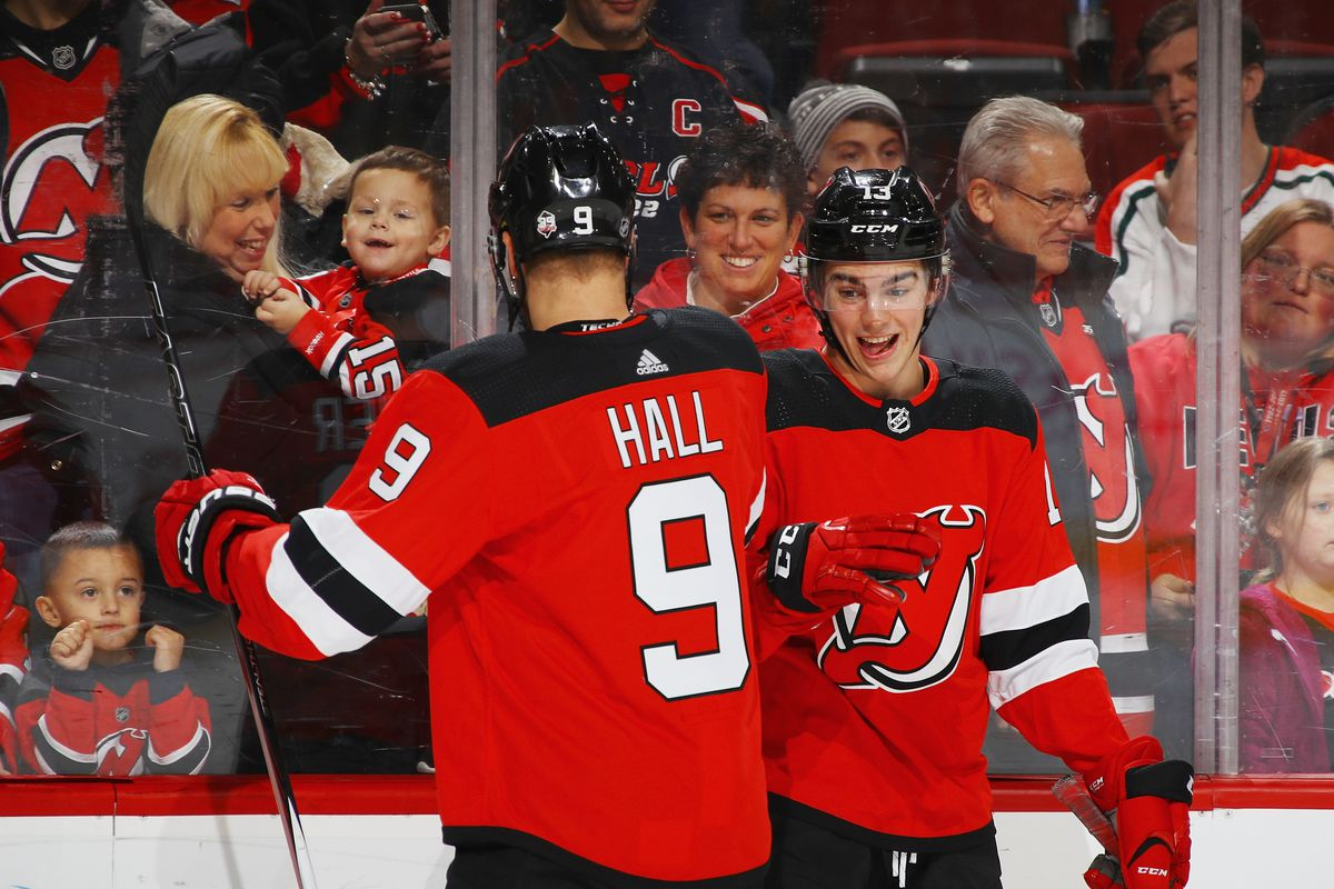 super popular a29e6 fce09 Comparing Nico Hischier's and Taylor Hall's Rookie Seasons ...