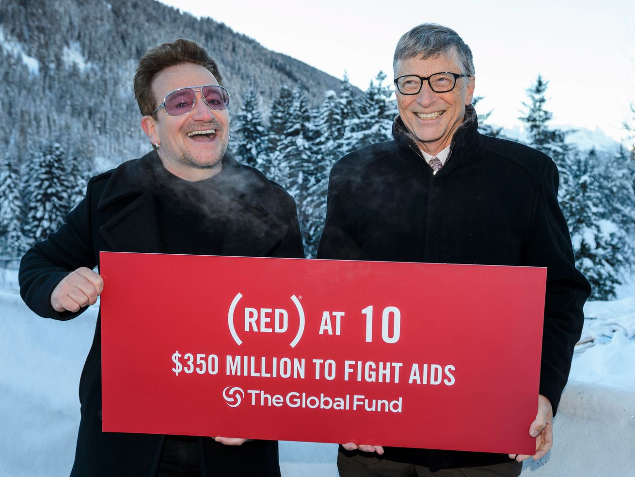 "What says ""big philanthropy"" more than a picture of Bono and Bill Gates at Davos?"