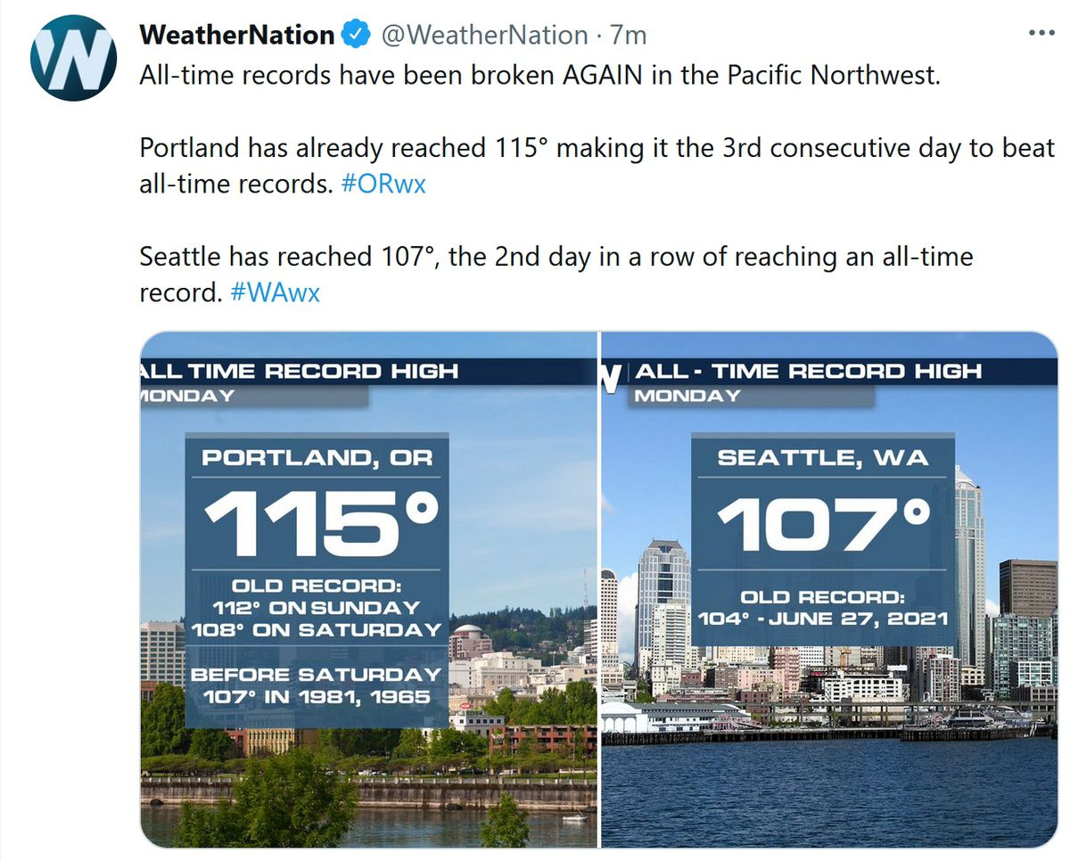 90s Return for 4th of July Weekend – Historic Heat Wave Grips Northwest