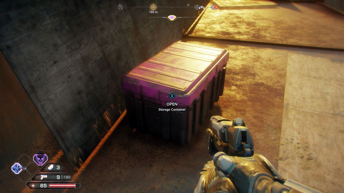 Rage 2 finding a Storage Container