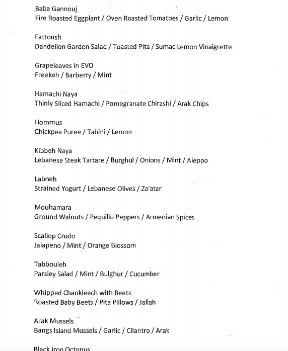 evo preview menu