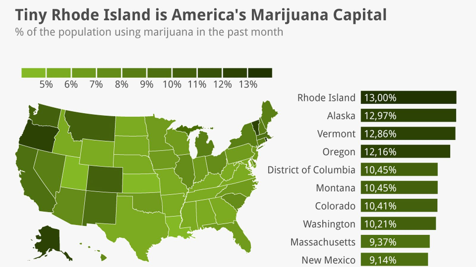 Map: America\'s marijuana capital may surprise you - Vox