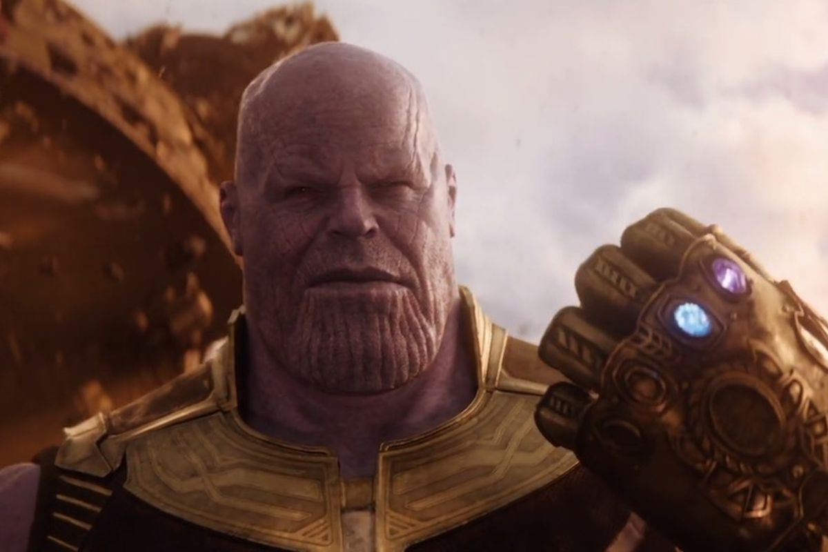 "An image of Marvel villain Thanos from ""Avengers: Infinity War."""