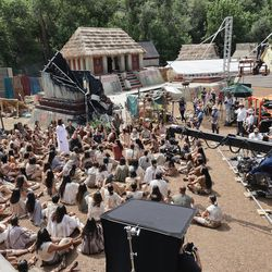 The Church of Jesus Christ of Latter-day Saints' production of the fourth season of Book of Mormon videos is filmed near Springville on Monday, July 26, 2021.