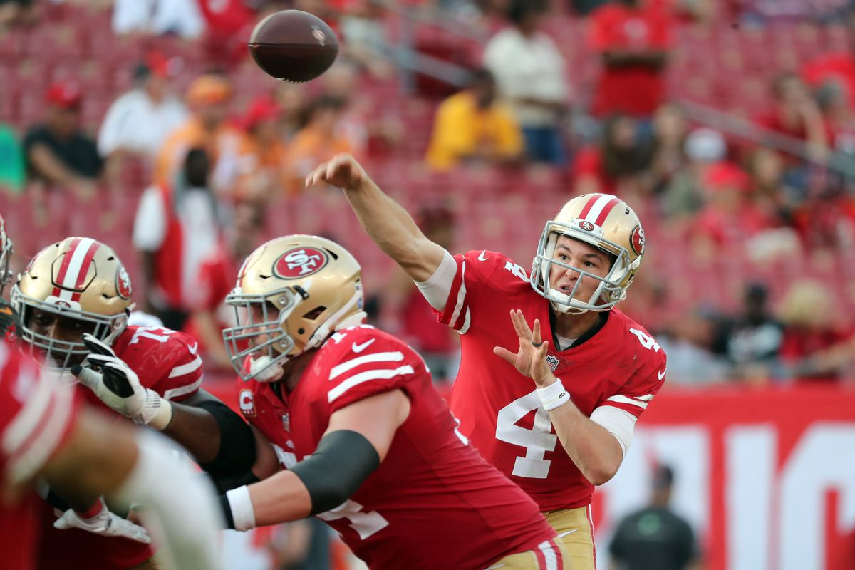 b656eed56 49ers to start fifth different QB against the Seahawks since 2016 season -  Field Gulls