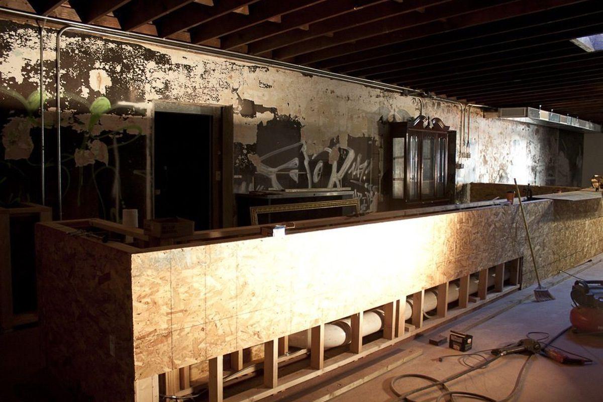 The future bar at Velveteen Rabbit.