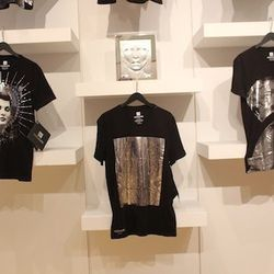 T-shirts on display at The Webster