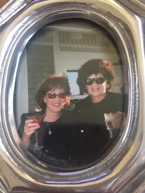 Donna Marinosci (left) with Marsha Brenner at the Inn at Castle Hill in Castle Hill, R.I.