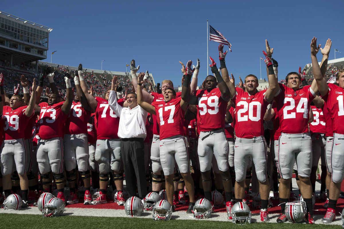 Post-game Carmen, Ohio or most tactless touchdown celebration of all-time?