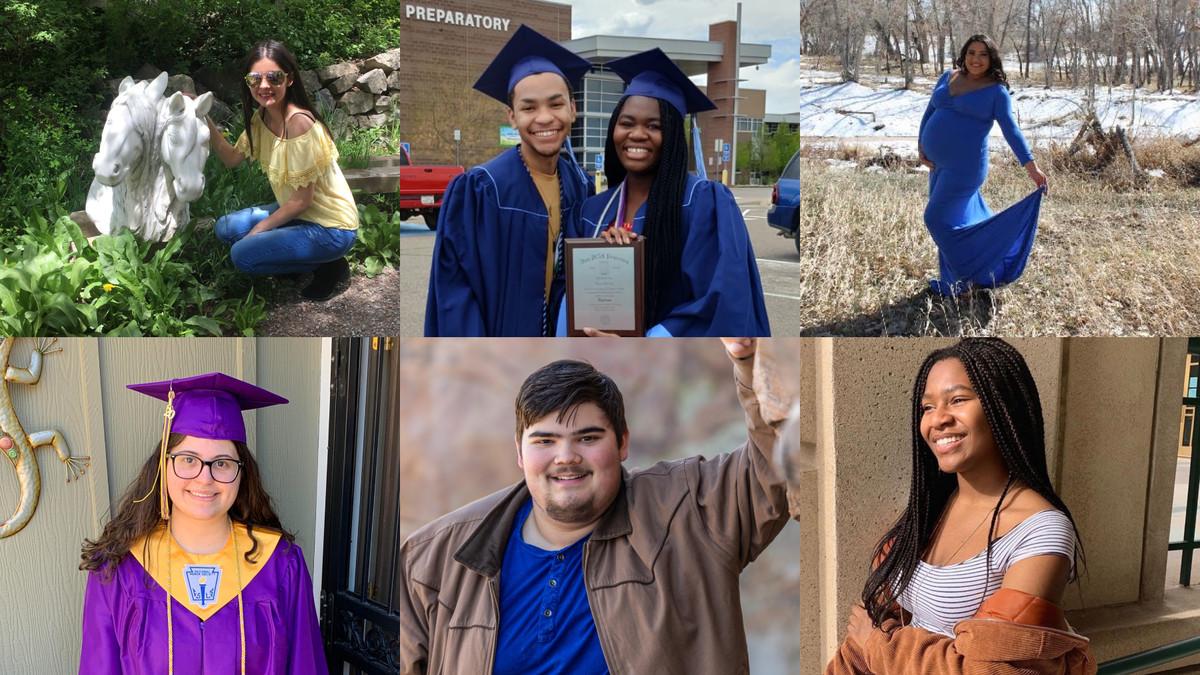 Grid of images of six Colorado high school graduates