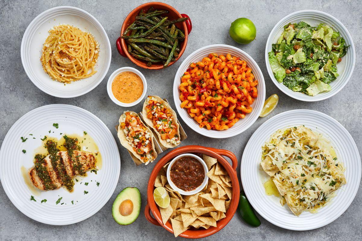 Assorted dishes at Nanas restaurant in Redondo Beach