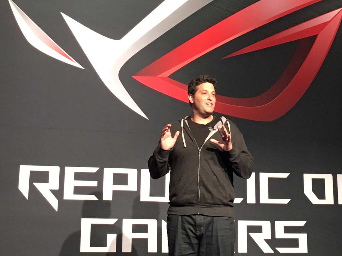 Windows Chief Terry Myerson helps Asus launch the new line of Windows 10 gaming PCs.