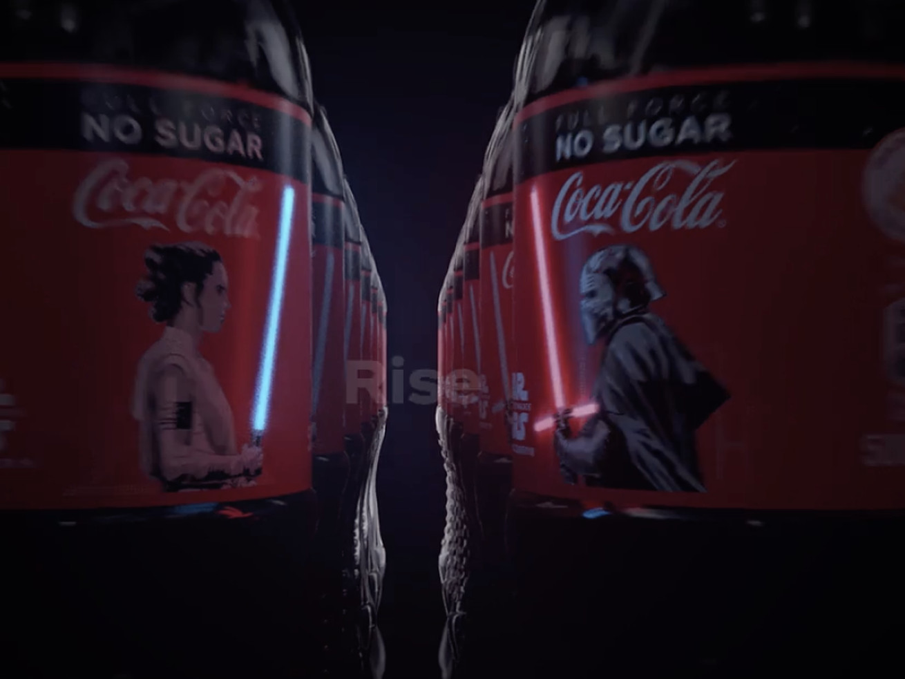 These Star Wars-themed Coca-Cola bottles literally light up. But there's a catch
