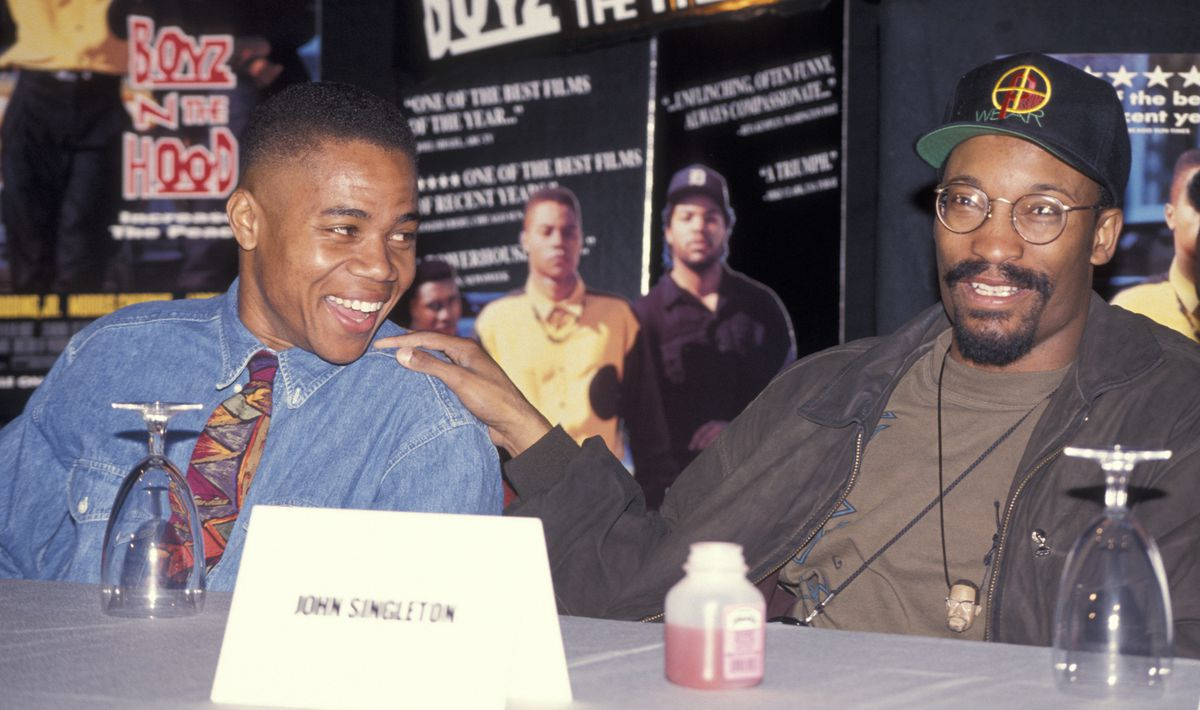 Cuba Gooding Jr. and John Singleton in 1992 (GettyImages)