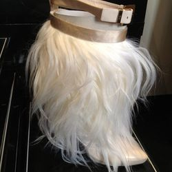 """Furry """"Prince Boots, $450"""
