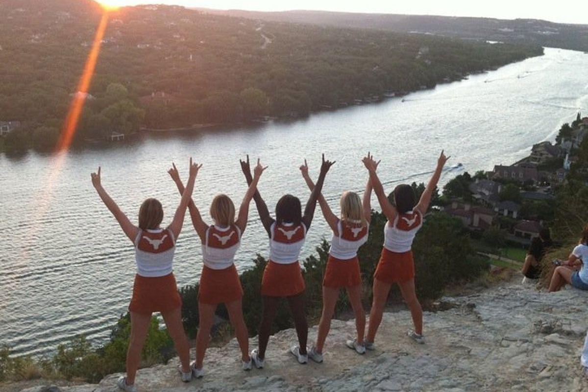 UT White Squad at Mt Bonnell - <em>Courtesy of Texas Spirit Program</em>