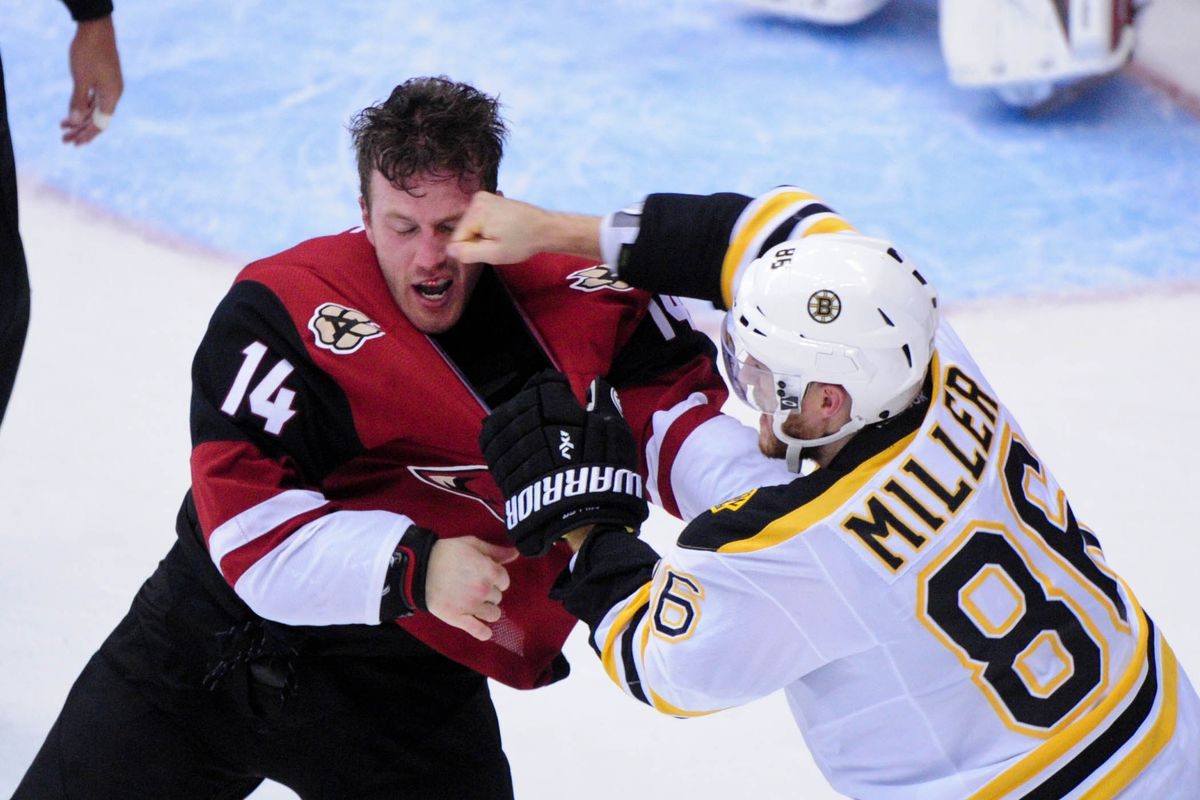 Joe Vitale's night served as a microcosm of how the Coyotes' night went.