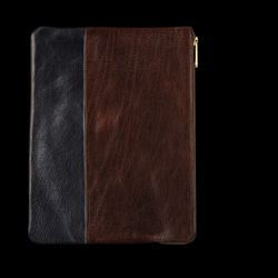 """Caputo & Co leather iPad case in blue and brown, originally $195, final sale price <a href=""""http://www.unionmadegoods.com/Caputo_&_Co._Leather_iPad_Case_in_Brown_and_Blue_5829.html"""">$70</a>"""