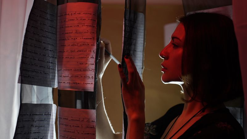 "Catherine French in ""Memorias de Una Presidiaria (Memories of a Convict""; Courtesy of Water People Theater"