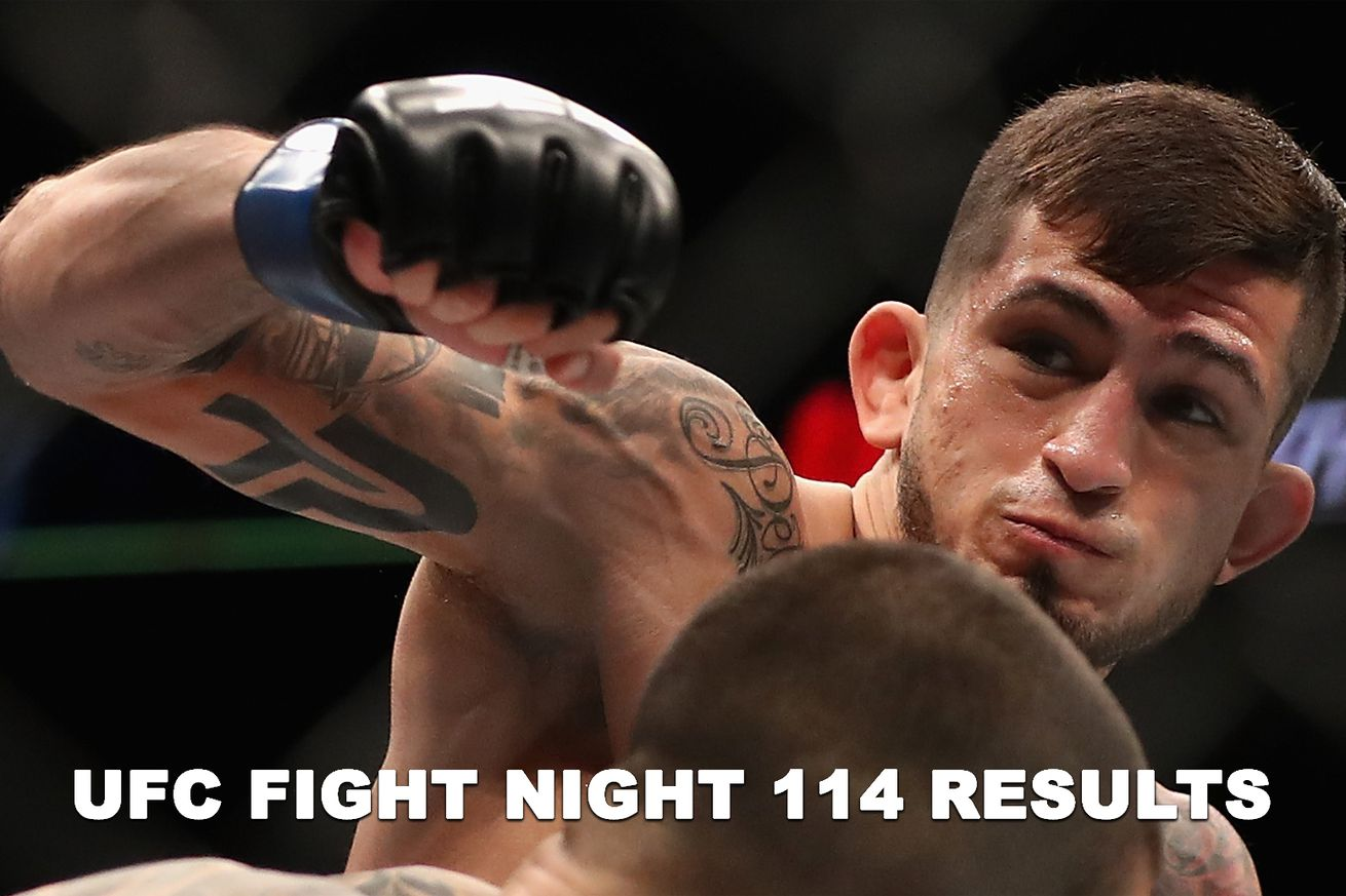 UFC Fight Night 114 results stream live: Pettis vs Moreno play by play updates